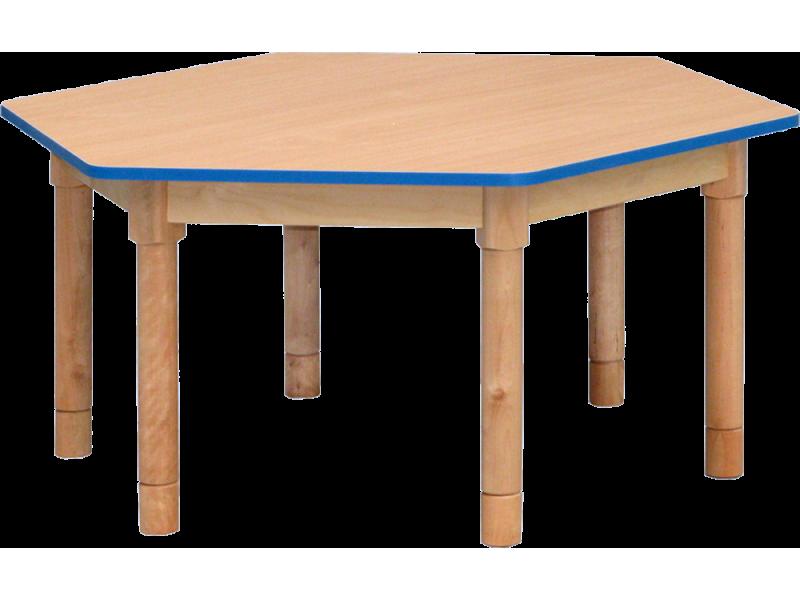 Stół sześciokątny 6x60cm