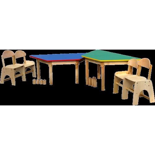 Stół trapezowy 3x60/125cm